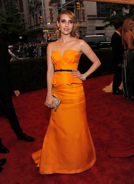 Emma Roberts Strapless Dress