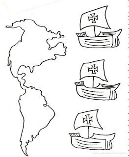 Descubrimiento de America, tres carabelas Cristobal Colon