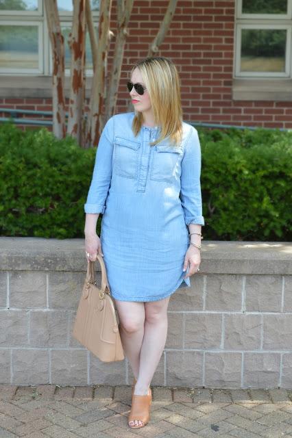 chambray-shirt-dress