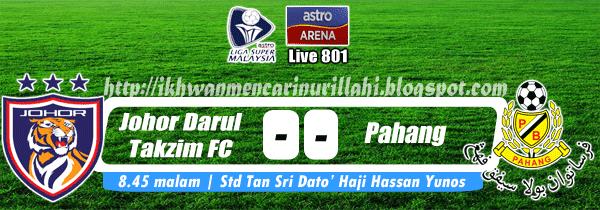 Keputusan Johor Darul Takzim vs Pahang 19 April 2013 - Liga Super