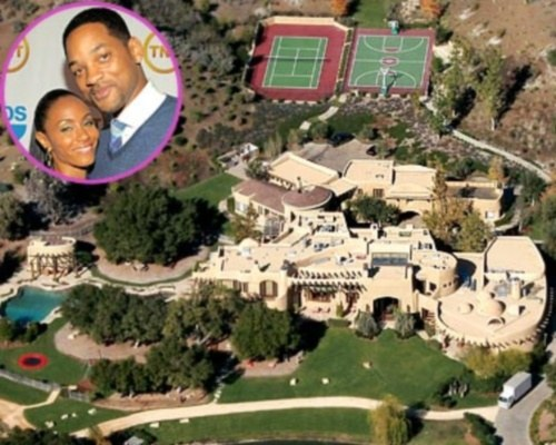 Newshocker will smith california mansion has 9 bedroom meditation room private lake and own zip - Celebrities live small old stylish homes ...