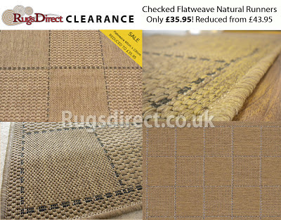 Checked Flatweave > Natural (60cm x 230cm)