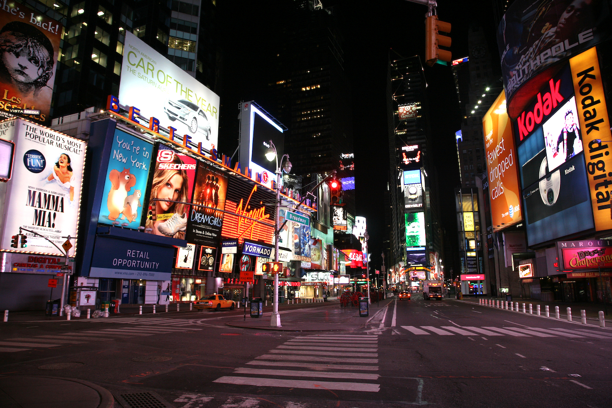 New york times square night photos 1 3 festivals and events for Places to see in nyc at night
