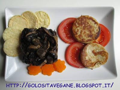 farina semi integrale, Formaggi vegetali, latte di mandorle, lievito alimentare in scaglie, ricette vegan, Salutiamoci, scamorza, Secondi,