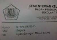 USM STAN 2013/2014 DIBUKA..?