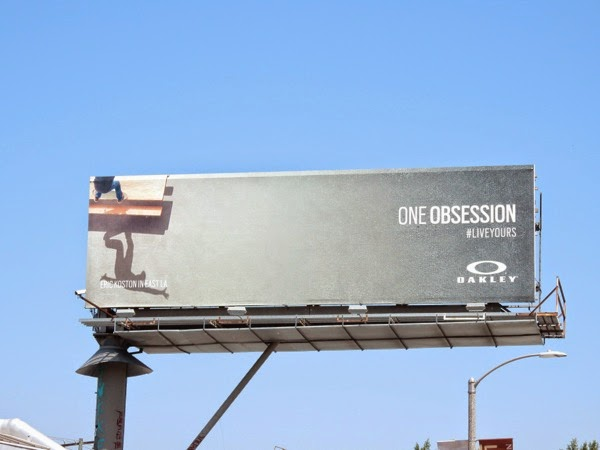 Oakley One Obsession skateboarder billboard