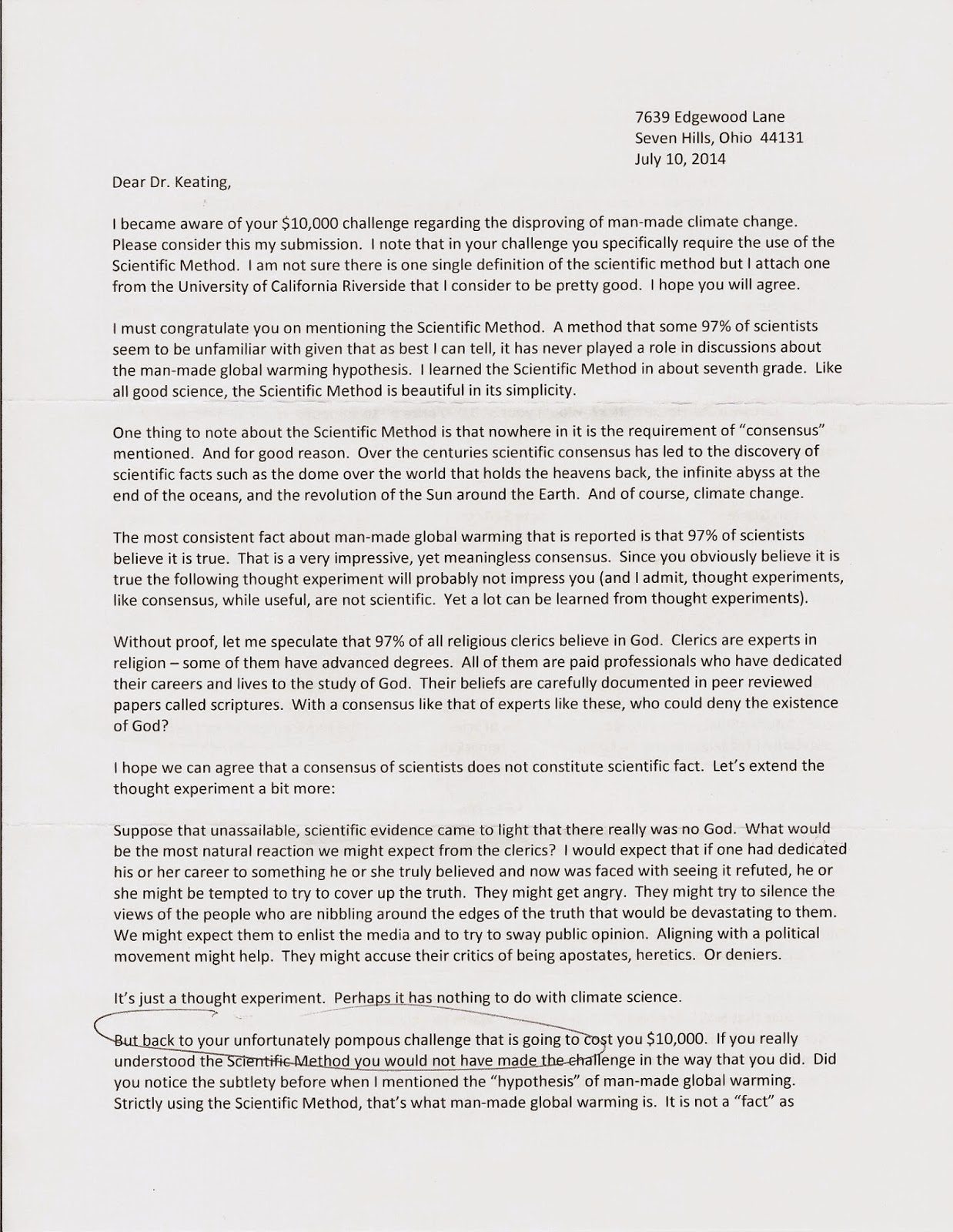 dialogues on global warming  this submission is one that i received via the usps from robert sammon