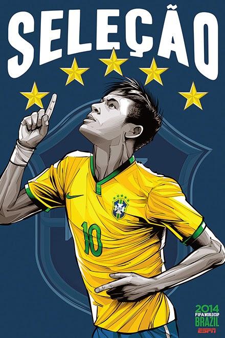 Poster keren world cup 2014 - Brazil