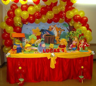 Decoração festa infantil Ursinho Pooh