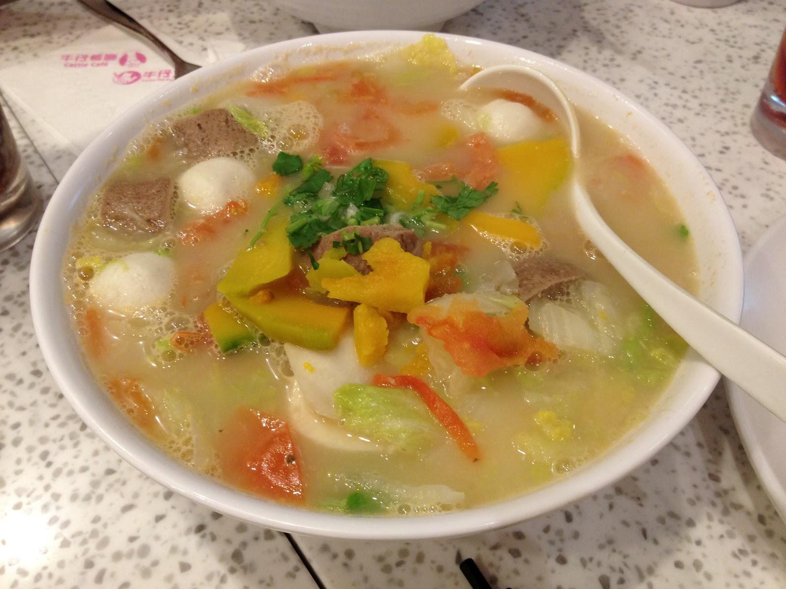 Noodle Soup Combo: Tomato & Pumpkin fish soup, Rice Noodles ...