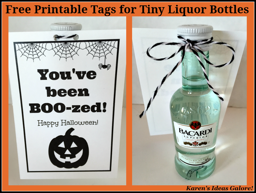 image about You've Been Boozed Printable identified as Karens Programs Galore!: Youve been BOO-zed (with Absolutely free Printable)