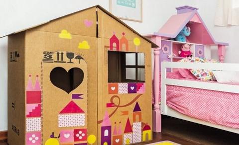 Crea una peque a casa de cart n para tus ni os - Casa carton ninos ...