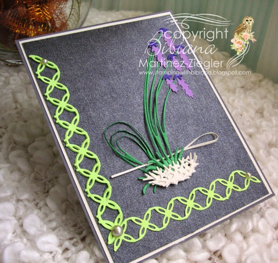 front ikebana card using Memory Box Dies