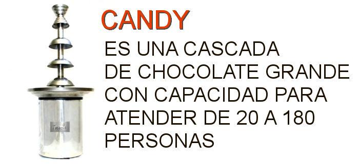 CANTIDAD DE PERSONAS QUE ATIENDE LA CASCADA DE CHOCOLATE