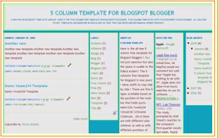 template blogger 5 column