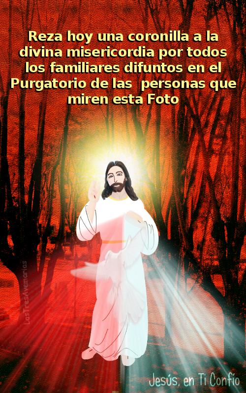 fotomontage de jesus misericordioso con el espiritu santo
