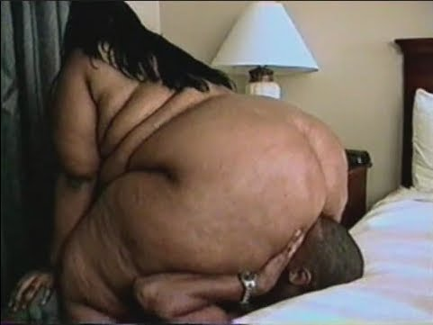 Huge black bbw facesitting