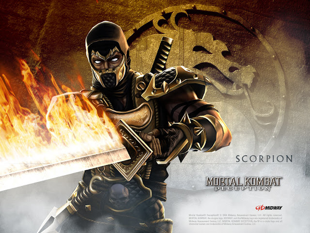 mortal kombat deception scorpion midway fighting game
