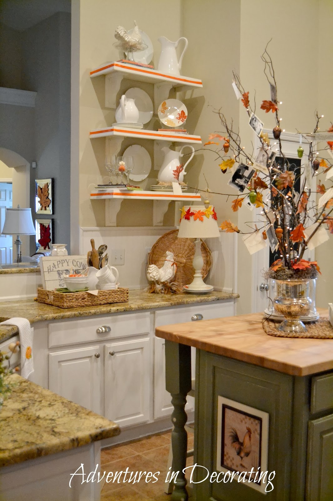 Adventures in decorating our fall kitchen for Home goods fall decorations