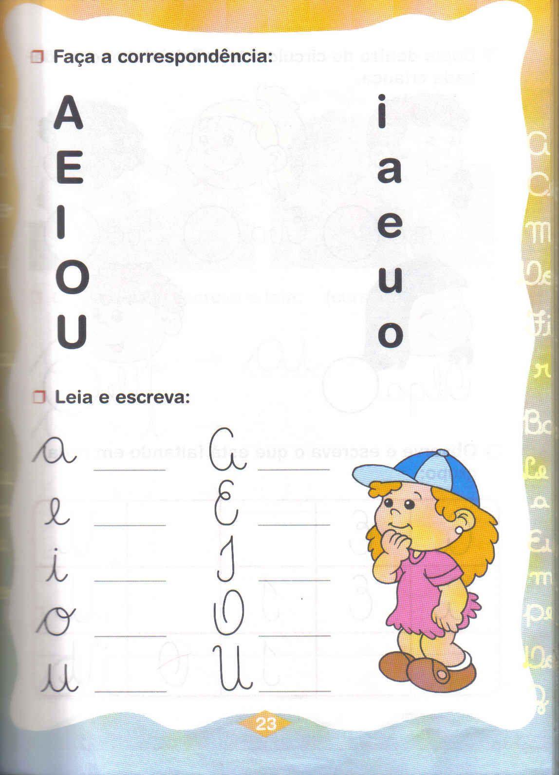 Atividades   As Vogais Para Educa    O Infantil