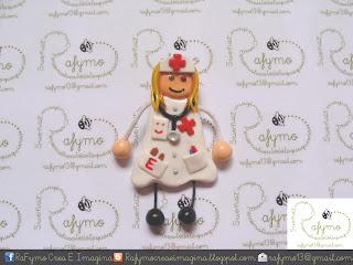 Enfermera 1 hecha con Fimo