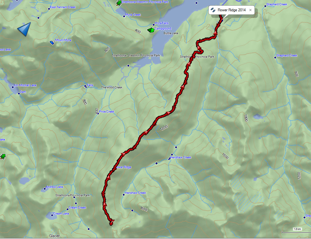 Flower Ridge Map