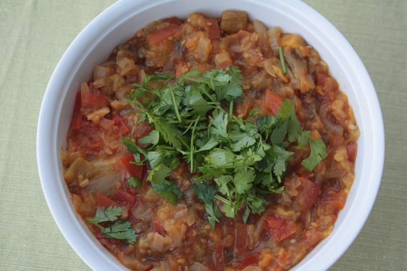 Bharta indisches auberginen curry kirschbiene kocht for Koch gerichte