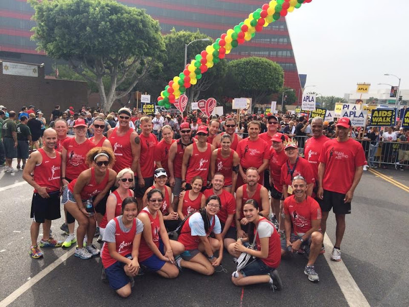 T2 Team to End AIDS runners AIDS Walk 2014