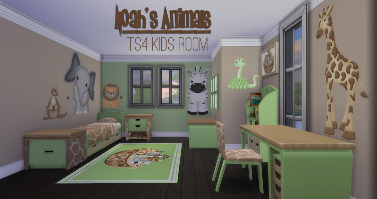 My sims 4 blog noah 39 s animals bedroom add ons and 100 for Room decor sims 4