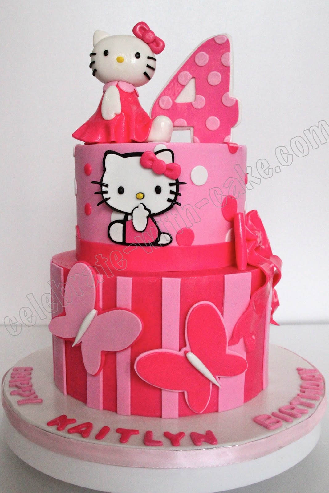 Birthday Cake Pictures Hello Kitty : torta kitty on Pinterest Hello Kitty, Hello Kitty Cake ...