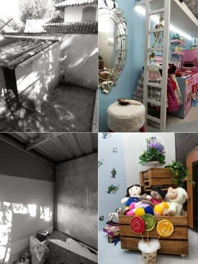 Casa de Bonecas Antes e depois
