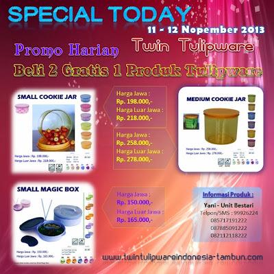 Promo Twin Tulipware 11 - 12 Nopember 2013
