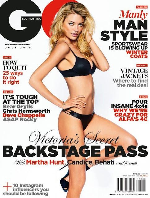 Model @ Martha Hunt for GQ South Africa, July 2015