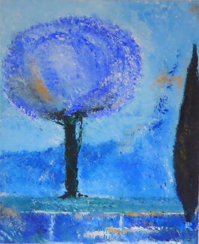 Un jardin à Trèbes - Arbre bleu 2