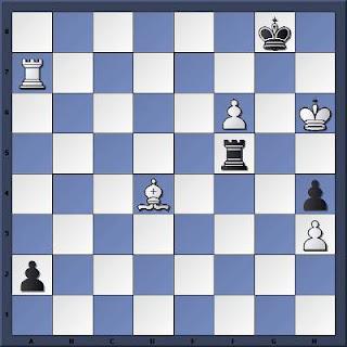 Echecs à Caen : la position après 66...Tf5