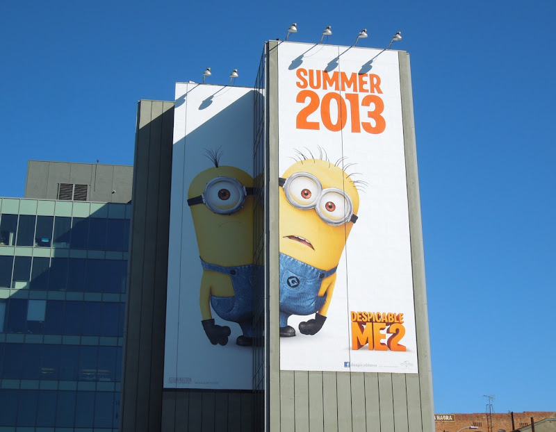 Giant Despicable Me 2 movie teaser billboard