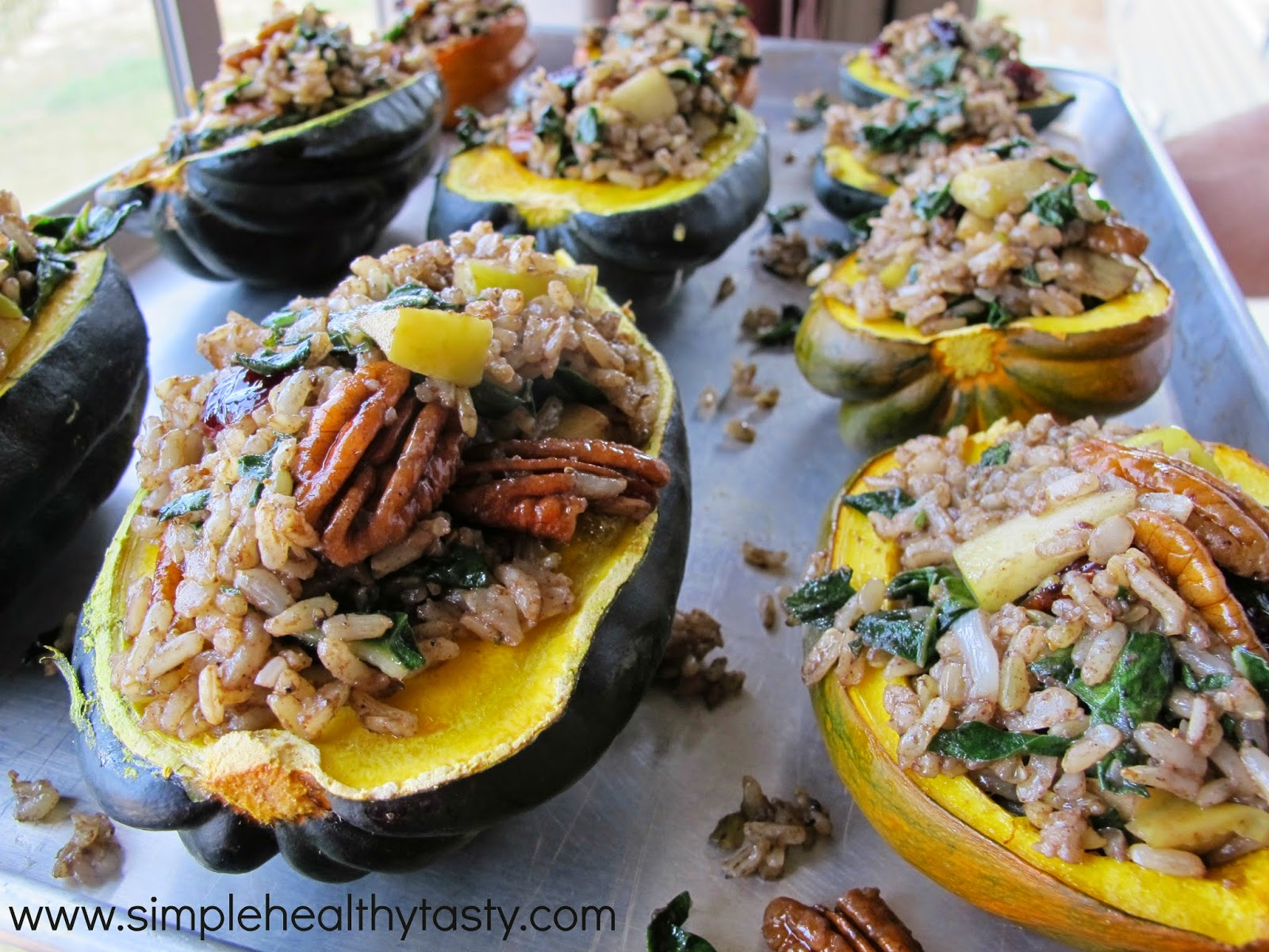 Simple. Healthy. Tasty: Stuffed Acorn Squash with Apple ...