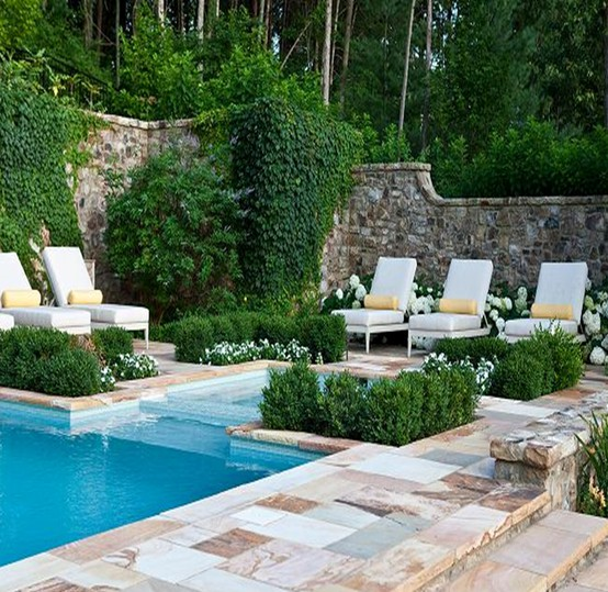 Beautiful things i like interior and exterior group for Gardens around swimming pools