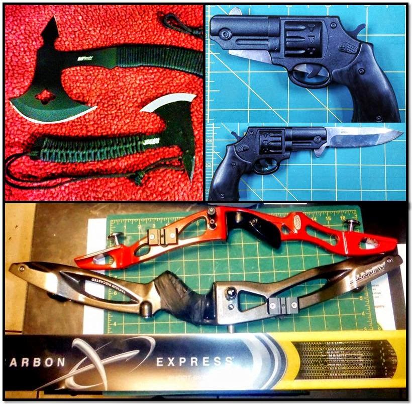 Axes (BWI), Gun Knife (BWI), Bows & Arrows (LAS)