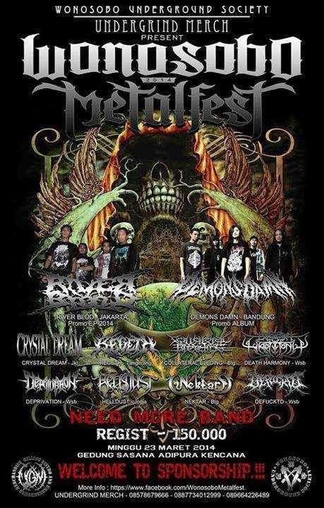 Wonosobo Indonesia  city images : WONOSOBO METAL FEST # 2 Wonosobo Indonesian Underground Music ...