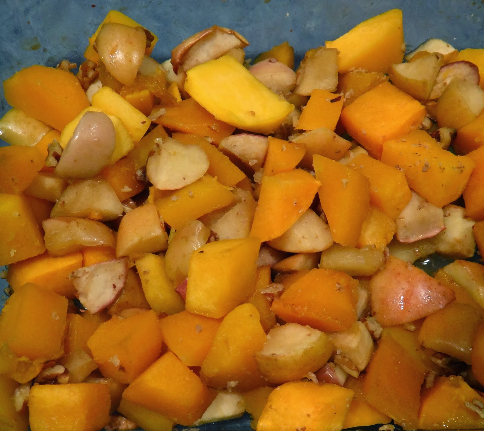 Maple Roasted Butternut Squash and Apples with Pecans