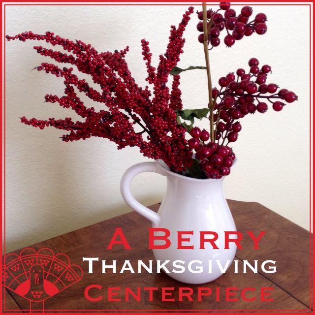 When tara met blog a berry thanksgiving centerpiece for Artificial cranberries decoration