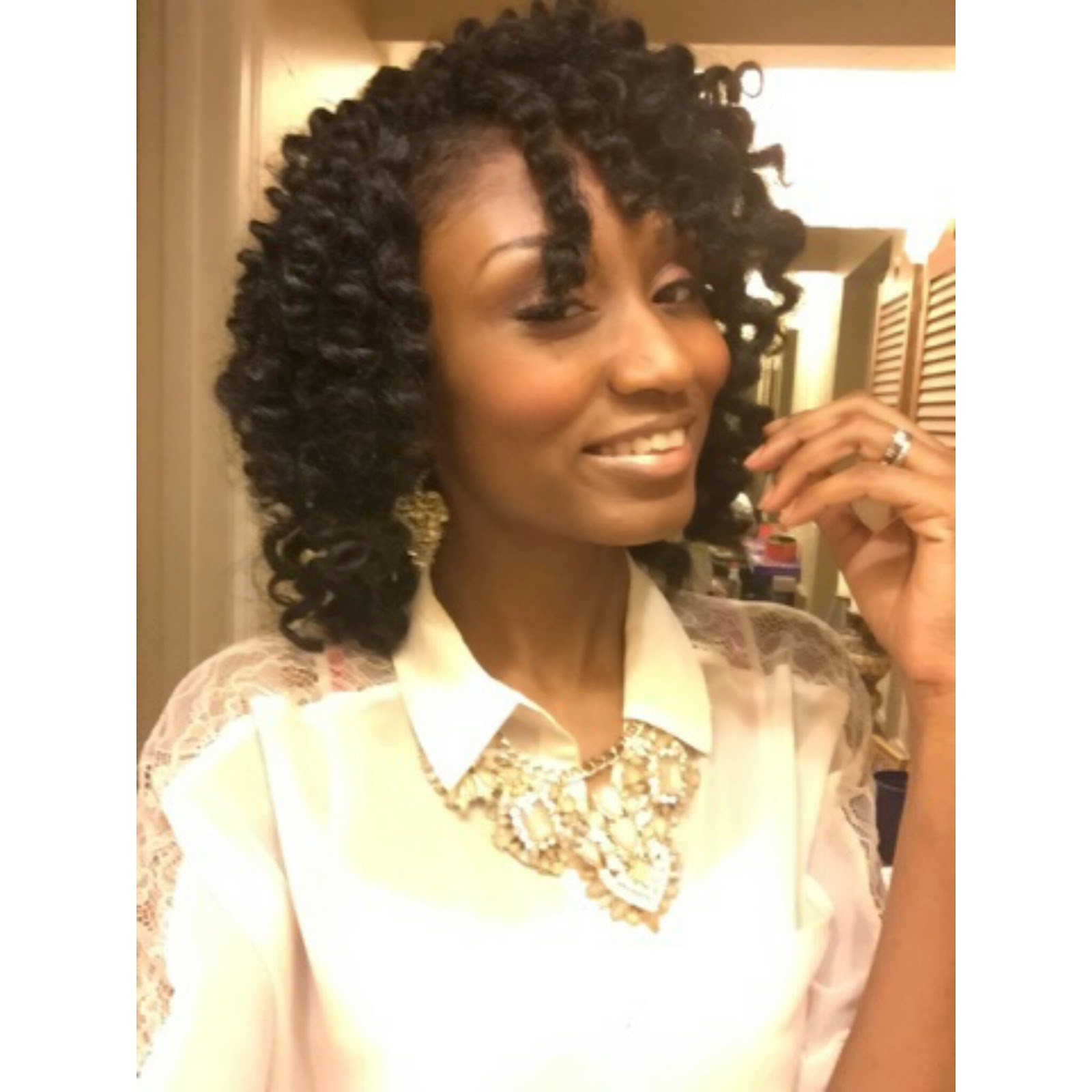 Crochet Braids using latch hook method