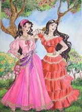 Ilustração: Amigas Ciganas