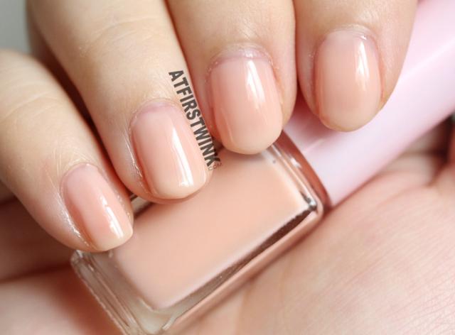 Etude House Juicy Cocktail gradation nails no. 7 - Peach Crush (nail polish 1 Calm Peach on nails)