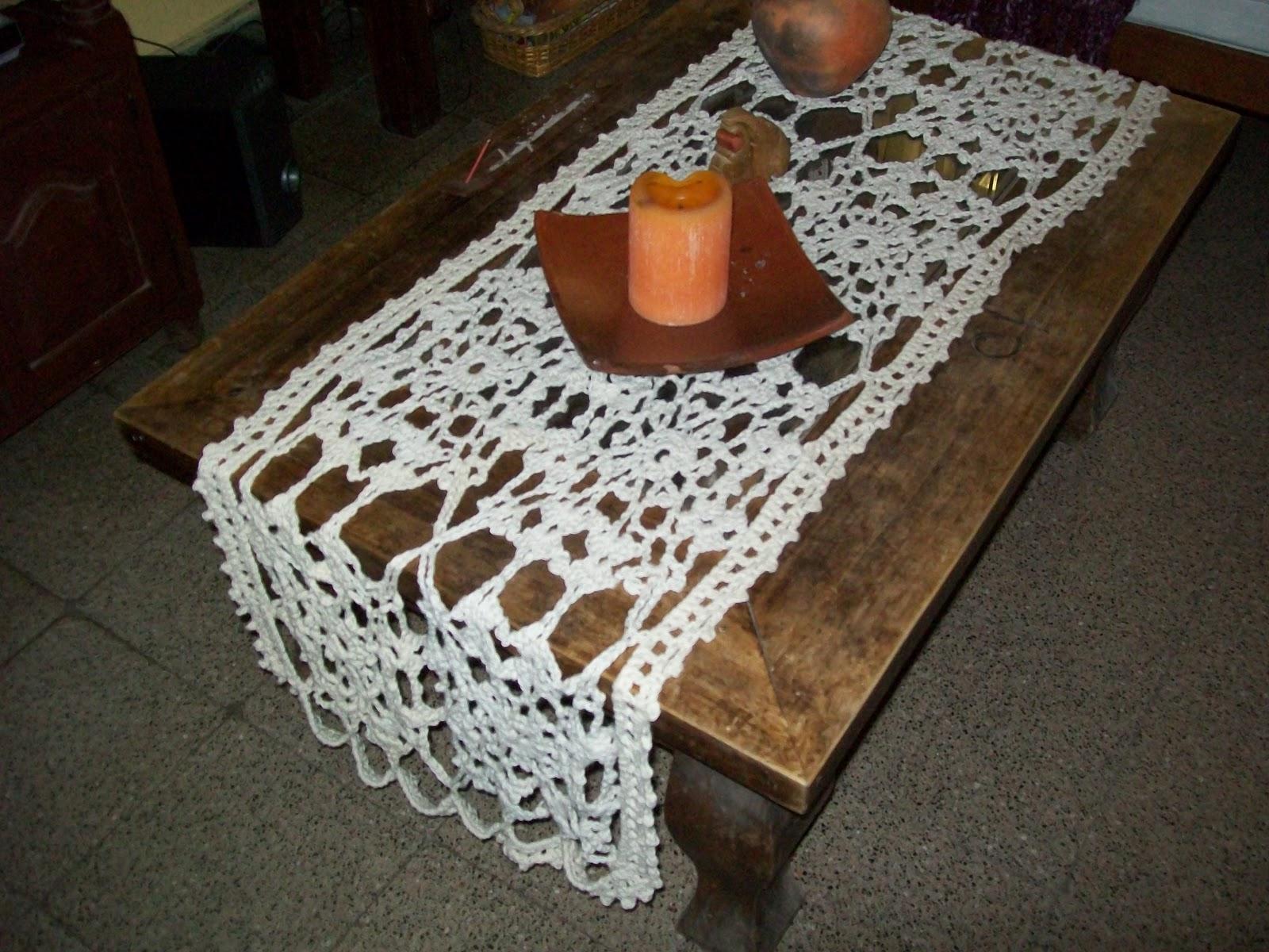 Patrones de caminos de mesa tejidos a crochet car for Camino de mesa a crochet