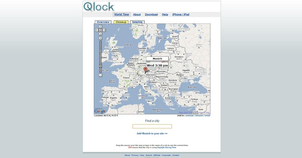 landkartenblog qlock blitzschnell eine lokale uhrzeit auf der welt herausfinden. Black Bedroom Furniture Sets. Home Design Ideas