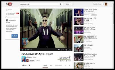 video gangnam style 1 milyar view
