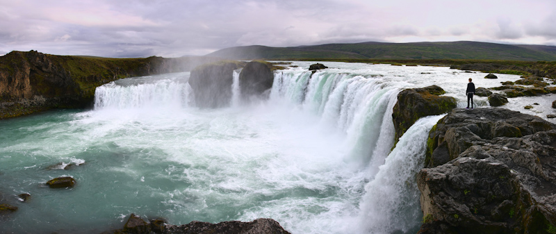 Godafoss waterfall Iceland panoramic photo