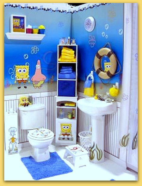 Decoracion Baño Para Ninos:Spongebob Bathroom Accessories